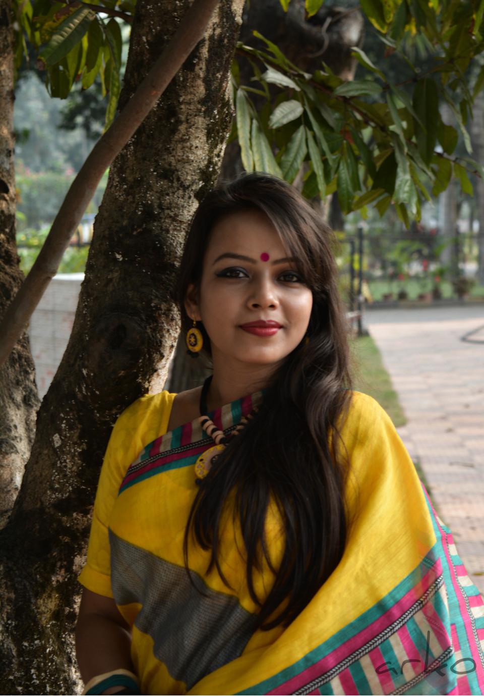 saraswati puja outfit day beautifully