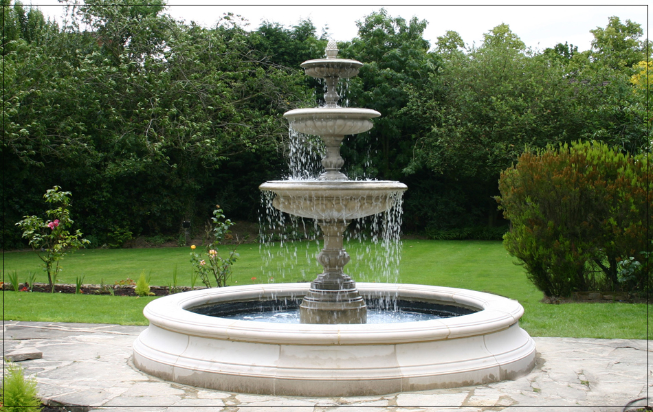 4 common materials used for garden fountains guest post for Garden pond waterfalls for sale