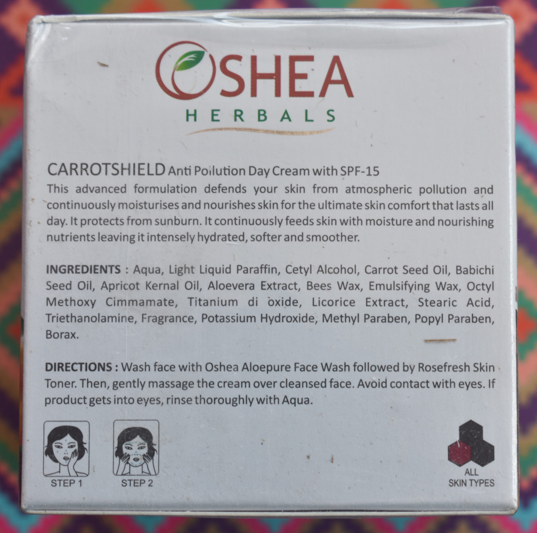 O'Shea Carrotshield Anti Pollution Day Cream With SPF 15